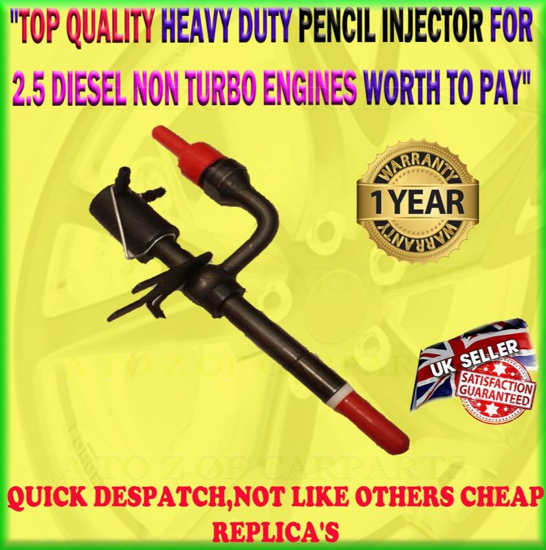 FOR LDV CONVOY WITH FORD ENGINE 96-09 2.5 DIESEL ONLY NON TURBO PENCIL INJECTOR